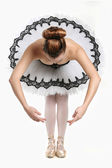 Ballet Dancer in Traditional Pancake Performance Outfit — Stock Photo