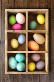 Ornate Holiday Easter Eggs Decorated in a Box — Stock Photo