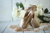 Posed Pointe Shoes in Natural Light  — Stock Photo