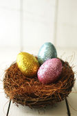 Colorful Easter Eggs Still Life With Natural Light — Stock Photo