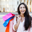 Beautiful woman with shopping bags — Stock Photo #11482868