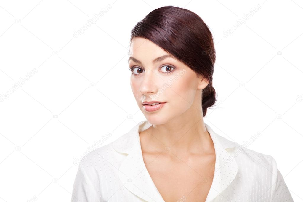 Attractive young businesswoman, face portrait — Stock Photo #12715745