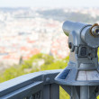 Telescope for tourists in Prague, Czech Republic — Foto de Stock