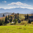 Autumn landscape in the Carpathian mountains — Stock Photo