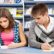 Student cheating at test exam — Stock Photo #16969915