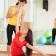 Group training in a fitness center — Stock Photo #18524111