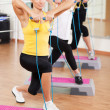 Group training in a fitness center - Foto de Stock