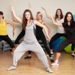 Group training in a fitness center - Stock Photo