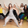 Group training in a fitness center - Foto Stock