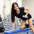 Royalty-Free Stock Photo: Beautiful slim woman in a gym