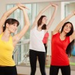 Group training in a fitness center — Stok fotoğraf