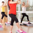 Group training in a fitness center - Stockfoto