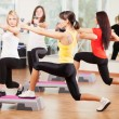 Group training in a fitness center - Stok fotoraf