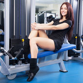 Slim woman training in a gym — Stock Photo