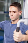 Trainer in a fitness center — Stock Photo