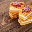 Tasty waffles — Stock Photo
