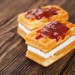 Tasty waffles - Stock Photo