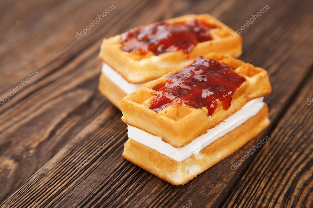 Tasty european waffles — Stock Photo #19511497