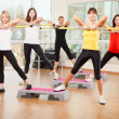 Group training in a fitness class — Stock Photo #19669107