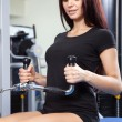 Beautiful slim woman training in a gym — Stock Photo #19669121