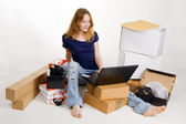 Woman buying online — Stock Photo