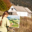 Royalty-Free Stock Photo: Painter in the mountains
