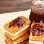Tasty waffles — Stock Photo #20046953