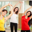 group training in a gym of a fitness center — Stock Photo #21150961