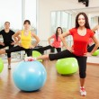 Royalty-Free Stock Photo: Group training in a fitness class