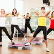 Group training in a fitness class — Stock Photo