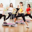 Group training in a fitness class — Stok fotoğraf