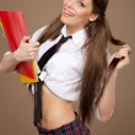 Woman in a schoolgirl costume — Stock Photo #23990107
