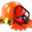 Industrial protective wear - Stock Photo