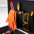 Contractor&#039;s toolkit - Stock Photo