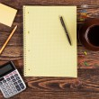 Office supplies on a table — Stock Photo #24489911