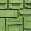 Wooden boxes background - Stock Photo