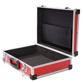 Red briefcase — Stock fotografie