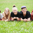 Cheerful group of students — Stockfoto