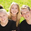 Cheeeful teenagers group — Stock Photo