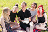 Cheerful group of students — Stock Photo