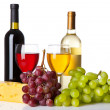 Wine, grapes and cheese — Stock Photo #29794675