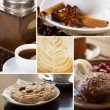 Set of coffee close-up photos — Stock Photo