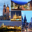 Cities of Europe - Prague and Krakow — Stock Photo