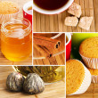 Set of tea still-life photos — Stock Photo