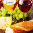 Wine, grapes and cheese — Stock Photo #32670983