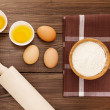 Eggs, milk and flour — Foto Stock