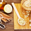 Ginger tea ingredients — Stock Photo