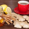 Stock Photo: Ginger tea