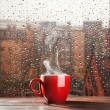 Stock Photo: Steaming coffee cup