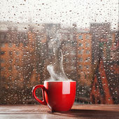 Steaming coffee cup — Foto Stock